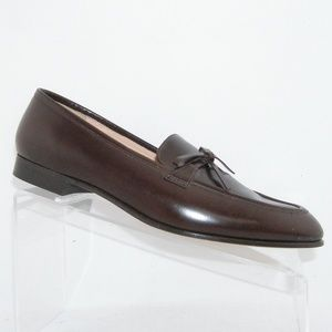 J.Crew Academy brown leather bow loafers 9M